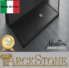 ARCKSTONE Piatto Doccia Bagno Pavimento Interno Novellini Olympic Plus Nero 12,5