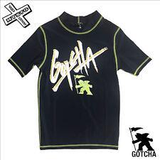GOTCHA ' CHICO MALO ' Niños Camiseta de Neopreno NEGRO Edad 8 10 12 Surf
