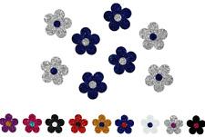 Applikation Bügelbild Glitzer Blumen-Set 8 Stück