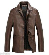 Custom Tailor Made Genuine Oil Pull Distressed Leather Jacket Blazer Coat