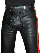 Pants Designer Lederhose 50 Lederjeans Neu Schwarz W34 Leather Trousers Pants 34 Cuir