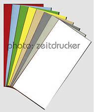 Karte Grußkarte farbig DIN lang 10x21cm 250g - 270g/m²