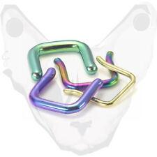 Setto nasale fermo 16G 14g Titanio Anodizzato 1,2 mm 1,6 mm Piercing colore