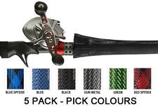 5 X Fishing Rod Covers PICK COLOURS (sock glove tube jacket stick cover)