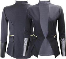 Q32 mujer nuevo a medida P. V. C manga larga chaqueta americana