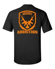 Assault Addiction t shirt Assault rifle apparel target shooting m4 life ar15 ak