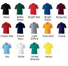 3 X Kids Boys Girls Childrens School Uniforms Polo Shirt Plain Polycotton Polo