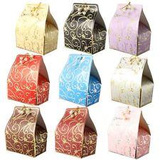 Cajas de aluminio estampado de lujo favor 50x-plata oro de boda dulces