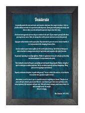 Desiderata Poem Inspirational Motivation Quote Determination Poster Blue Print
