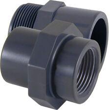 PVC-U Übergangs Muffennippel * Innengewinde Außengewinde PVC Fitting Übergang