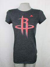 Houston Rockets HR Logo Adidas Women's T-Shirt NBA Gray Medium XLarge 2XLarge