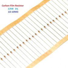 1000pcs Carbon Film Resistor 5% 1/6W - Full Range of Values ( 1Ω-10MΩ )