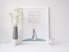 Peter Rabbit Nursery impression photo-même le plus petit on peut changer le monde