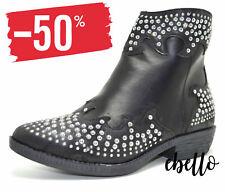 Stivaletti boots bassi scarponcini donna scarpe da motociclista anfibi biker