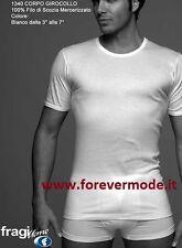 T-shirt uomo Fragi manica corta in filoscozia con girocollo basso art 1340