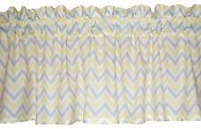 """40"""" - 64"""" - 80"""" wide NEW gray WHITE window CHEVRON custom valance yellow Zig Zag"""