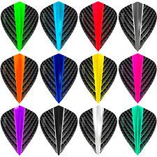 Raw100 Plain Pear Dart Flights 1-10 Sets Tough Solid Colours Teardrop Raw 100