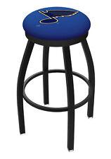 St. Louis Blues HBS Black Swivel Bar Stool with Blue Cushion
