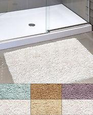"Kensington Shaggy Chenille Cotton Noodle Bath Bathroom Rug 21"" x 34"""