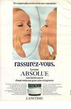 PUBLICITE   1970  LANCOME cosmétiques la creme absolue