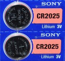 2 Piles Bouton 3V SONY CR2025 au LITHIUM  (DL2025 BR2025 KCR2025 ECR2025 LM2025)