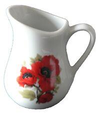 Poppy porcelain cream/milk jug - small 0.125 litres