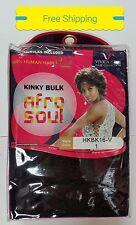 """Vivica Fox Afro Soul Kinky Bulk 16"""" HKBK-V 100% Human Hair Braiding"""