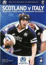 La Scozia V ITALIA 2005 RUGBY programma