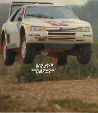 PUBLICITE ADVERTISING  1987   PEUGEOT   405 TURBO 16  Terreur du Paris-Dakar