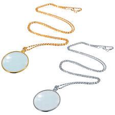 Utility 5x Necklace Magnifier Decorative Monocle Lens Magnifying Glass Pendant