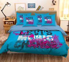 3D Musical Elements 5 Bed Pillowcases Quilt Duvet Cover Set Single Queen Us