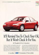 1996 Chevrolet Cavalier - red - Classic Vintage Advertisement Ad D06