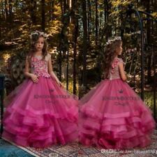 Flower Girl Princess Pageant Wedding Bridesmaid Party Communion Sequin Dresses