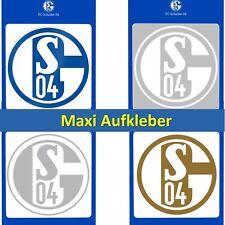 Aufkleber Maxi FC Schalke 04 Blau Weiß Gold Silber Weiß transparent Sticker S04