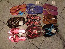 Fun in the Sun Women Ladies Beaded Glitter & Simple Beach Flip Flop Size S, L, M