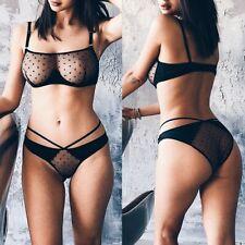 Plus Size Sexy Women's Lingerie Bra Underpant Set Babydoll Sleepwear Underwear