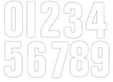 """Self Adhesive White Weather Proof Vinyl Wheelie Bin Numbers Stickers 7"""""""