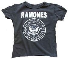 AMPLIFIED RAMONES Hey Ho Let's Go Logo Kids Rock Star Vintage T-Shirt 86/92