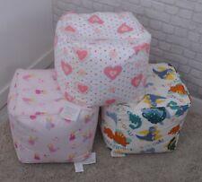 Child /Teen  Bean Cube - Bean Bag -FAIRIES, HEARTS, DINOSAUR