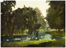 Hampton Court Park London Vintage photochrome print ca. 1890
