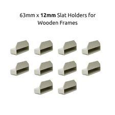 63mm x 12mm profondità letto singolo a doghe titolari/Tappi per telai Letto in legno-Grigio