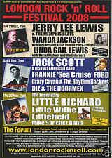 Jerry Lee Lewis Wanda Jackson Little Richard   Flyer concerto Londra 100 Club