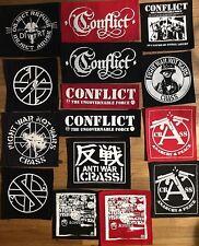 CRASS CONFLICT DIRT patches anarcho punk rock