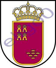 1x STICKER Escudo ca Murcia COAT OF ARMS SPAIN decal