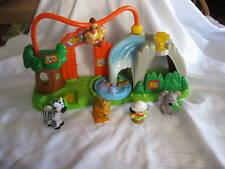 Fisher Price Little People Surprise Sounds Zoo Playset Waterfall Zebra Koala Toy