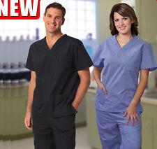 Mens / Womens Scrubs Short Sleeve Tunic Top / Scrubs Pants