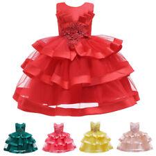 Flower Girls Party Wedding Dress Tutu Princess Pageant Princess Kids Bridesmaid