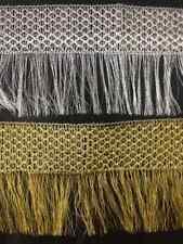 Silver Gold Lurex Metallic Fringe Dress Edging craft, fashion 1 Yard 6inch appx