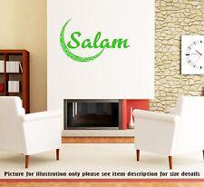 Salam with Moon -Islamic Wall Art Stickers Muslim Nursery decor Vinyl Wall Decal