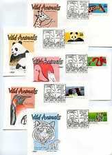 2705-09 Wild Animals, set of 5, Artmaster, FDCs